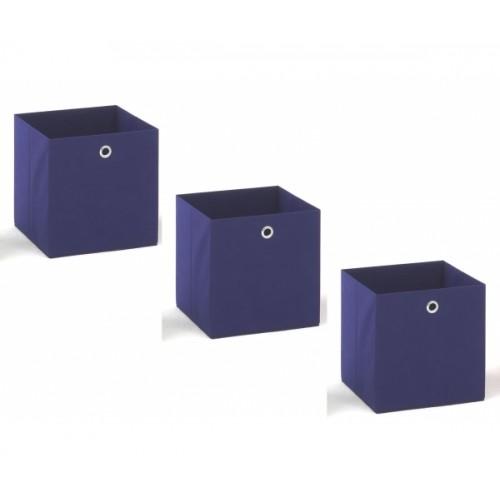 3 - er Set blau Korb Regalkorb Stoffkorb #14784