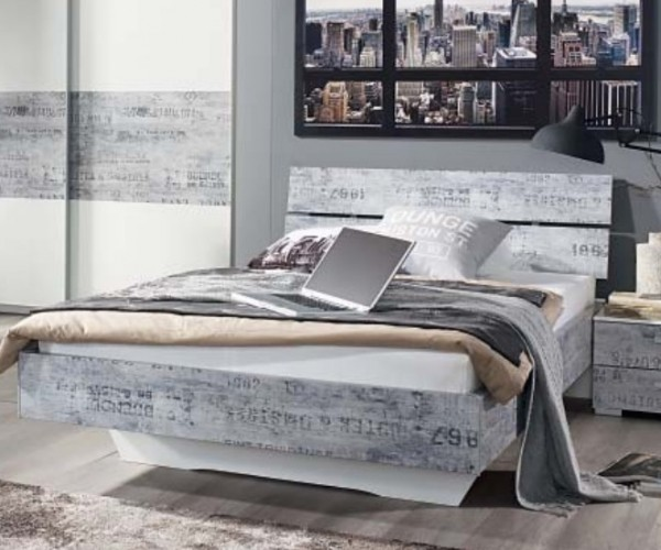 sumatra wei vintage grau jugendbett futonbett g stebett bett einzelbett 120 x. Black Bedroom Furniture Sets. Home Design Ideas