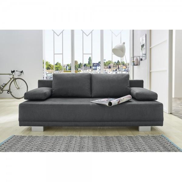 luzio grau jugendsofa schlafsofa sitzsofa bettsofa polstersofa couch mit bettfunktion ca 196 cm. Black Bedroom Furniture Sets. Home Design Ideas