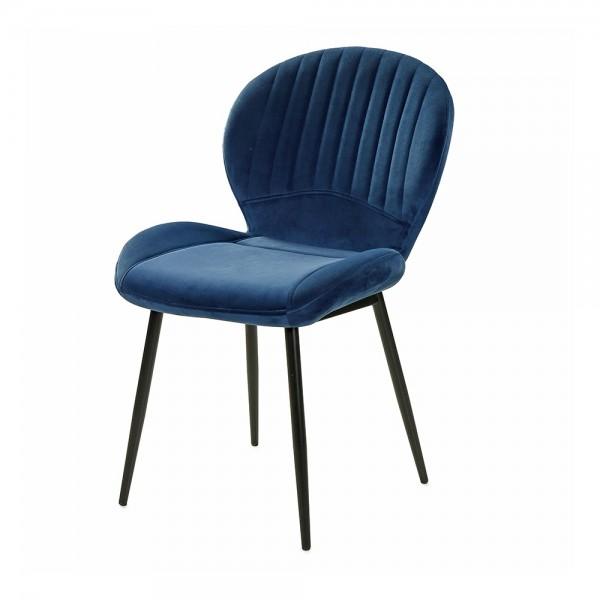 6002490 Daisy Blau Samt Stuhl Vierfussst #14579