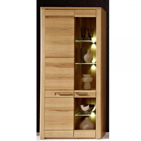 1205ff01 inkana vitrine gross kernbuche teilmassiv standvitrine beistellvitrine ca 85 cm. Black Bedroom Furniture Sets. Home Design Ideas
