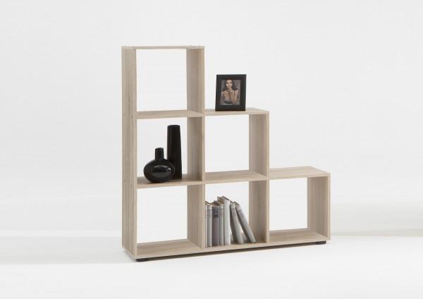 248 001 raumteiler regal b cherregal stauraumregal eiche s gerau mega 1 raumteiler regale. Black Bedroom Furniture Sets. Home Design Ideas