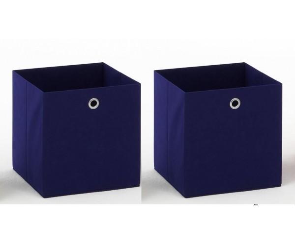 2 - er Set blau Korb Regalkorb Stoffkorb #884