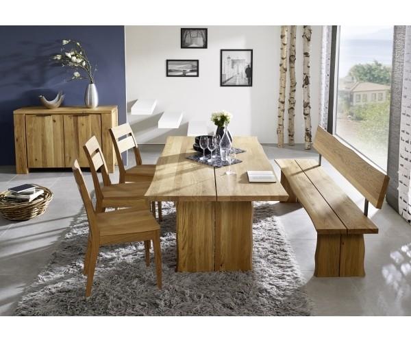 Tischgruppe Esszimmer Oviedo 220 Cm Wildeiche Massiv 3 Stuhle