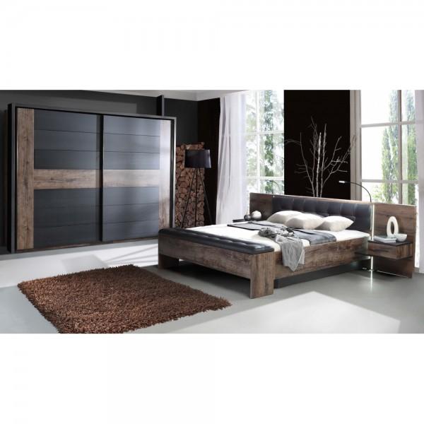 schlafzimmer bellevue schlammeiche nb schwarzeiche nb inkl kleiderschrank bettanlage inkl