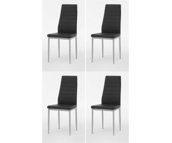 4-er Set Simone schwarz Stuhl Esszimmers #2724