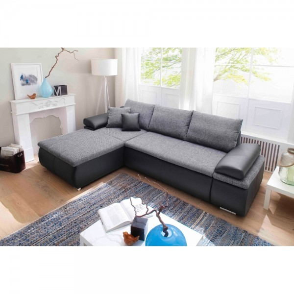 CELINA schwarz / grau Couchgarnitur Wohn #15561