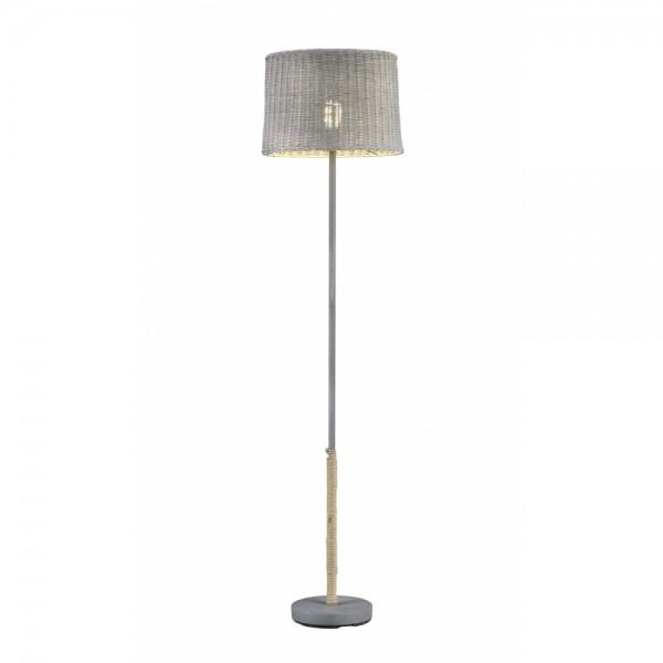 Stehleuchte Stehlampe Rotin grau grau 1x #14952