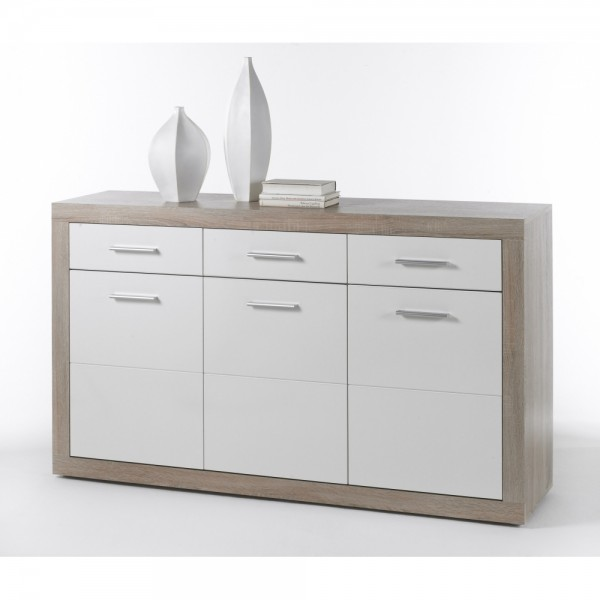 44 774 68 Can Can Eiche Sagerau Sonoma Weiss Hg Kommode Sideboard