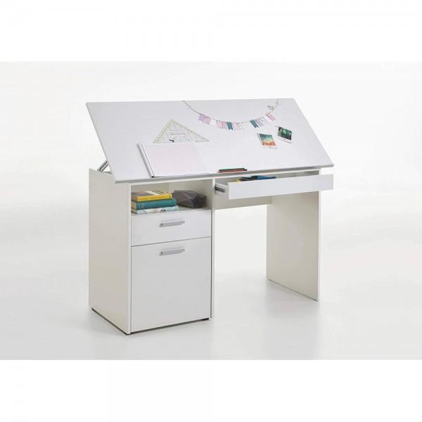 Kinderschreibtisch weiß  3009-001 DELFT Weiß Schreibtisch Kinderschreibtisch ...
