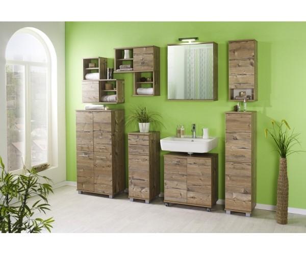 komplettes badezimmer bad isola 8teilig set in silberfichte nb 2x 119998 119940 119969. Black Bedroom Furniture Sets. Home Design Ideas