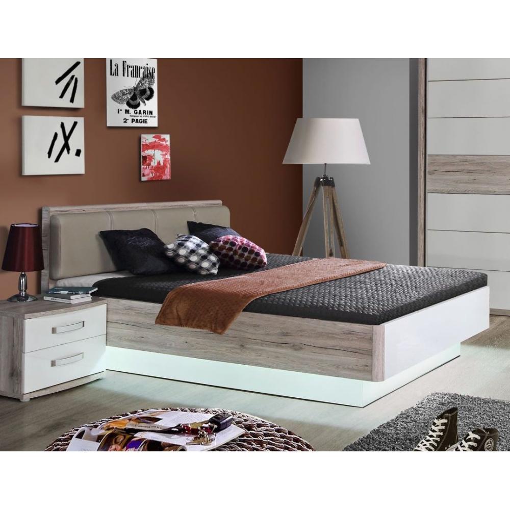 Rdnl242 T30 Rondino 140 X 200 Sandeiche Nb Weiß Bett Jugendbett Gästebett Einzelbett Doppelbett