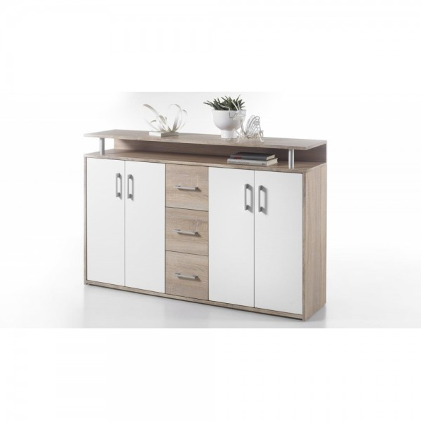 45 339 68 Drift Highboard Kommode Sideboard Eiche Sägerau Dekor