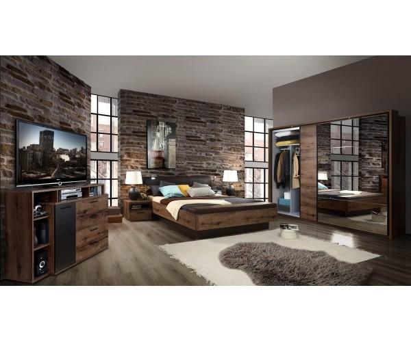 Schlafzimmer Jacky Wildeiche Nb. / schwa #7486