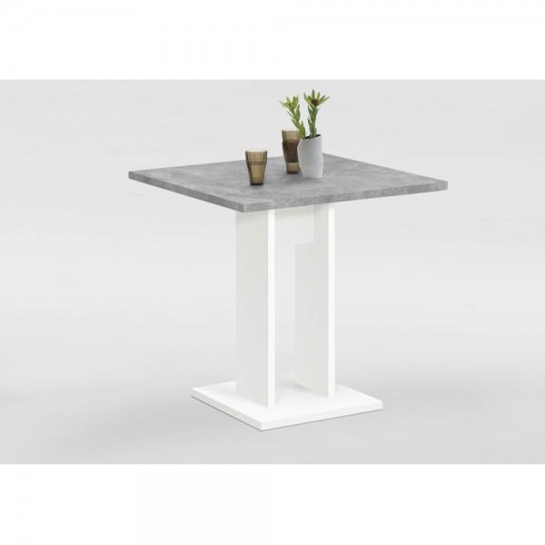 668 001 Bandol 1 Weiß Beton Grau Tisch Esszimmertisch Küchentisch