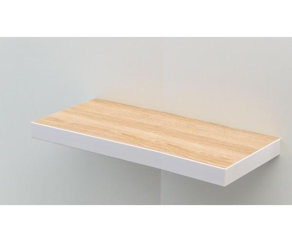 Te70e W Steckboard Eiche Sagerau Dekor Mit Kante Weiss Wandboard