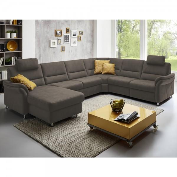 Couch LS672117 im Stoff nougat mit Kontr #18497