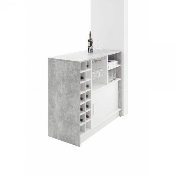 83-915-D5 PLANTER Beton grau / Weiss Bar #12914