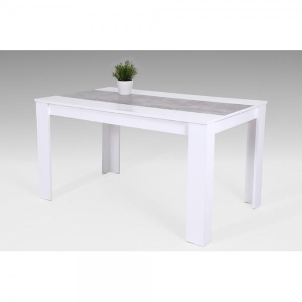 020227 Lilo Weiss Beton Grau Tisch Küchentisch Speisezimmer