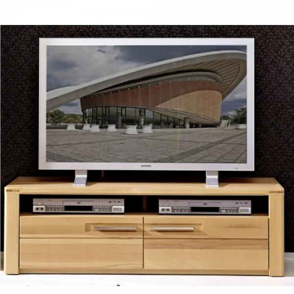 1205ff31 inkana tv unterteil kernbuche teilmassiv fernsehelement hifi lowboard ca 130 cm. Black Bedroom Furniture Sets. Home Design Ideas