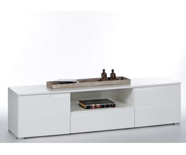 45 959 13 spice hochglanz wei lowboard tv regal kommode beistellkommode ca 165 cm hifi. Black Bedroom Furniture Sets. Home Design Ideas