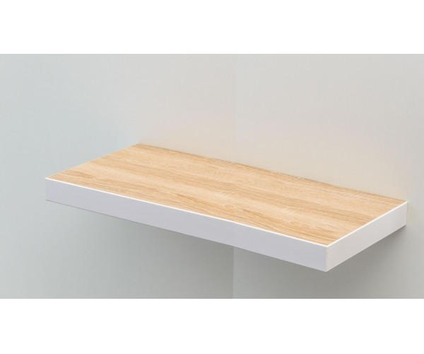 te80e w steckboard eiche s gerau dekor mit kante weiss wandboard h ngeregal wandregal 80 cm. Black Bedroom Furniture Sets. Home Design Ideas