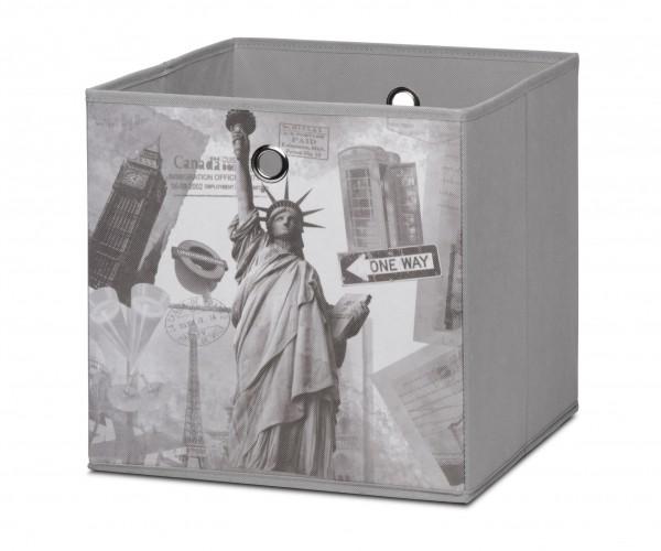 002002 Alfa City grau Faltbox Faltkorb K #6349