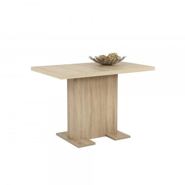 Esszimmertisch Küchentisch Säulentisch Ausziehbar BRITT Eiche Sonoma Sägerau  Nb. 110 X 69 Cm