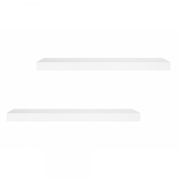 2er Wandboard Wandregal Steckboard Hängeregal 2398 SHELVY 60 Hochglanz Weiß  ca. 60 cm
