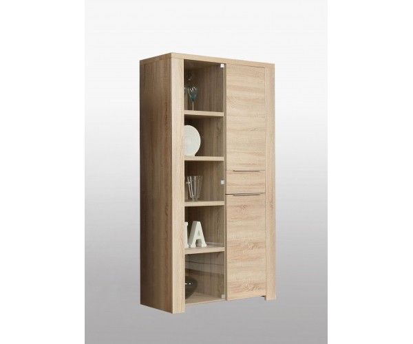 clpv94 d30 calpe eiche s gerau doppelvitrine vitrine vitrinenschrank ca 110 cm breit vitrinen. Black Bedroom Furniture Sets. Home Design Ideas