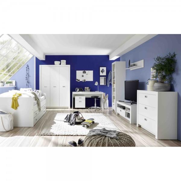 Komplettes Jugendzimmer ALASKA Weiss 8tl #13894