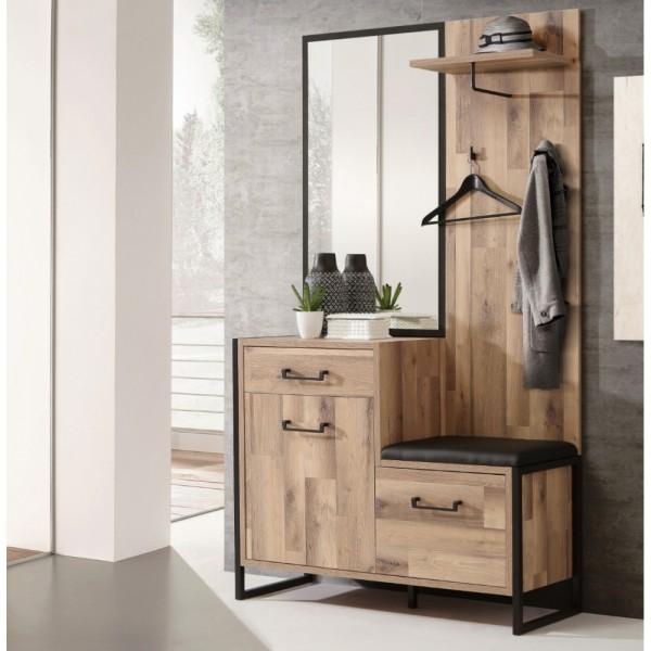 Garderobe Set Spiegel Kleiderpaneel Schu #18237
