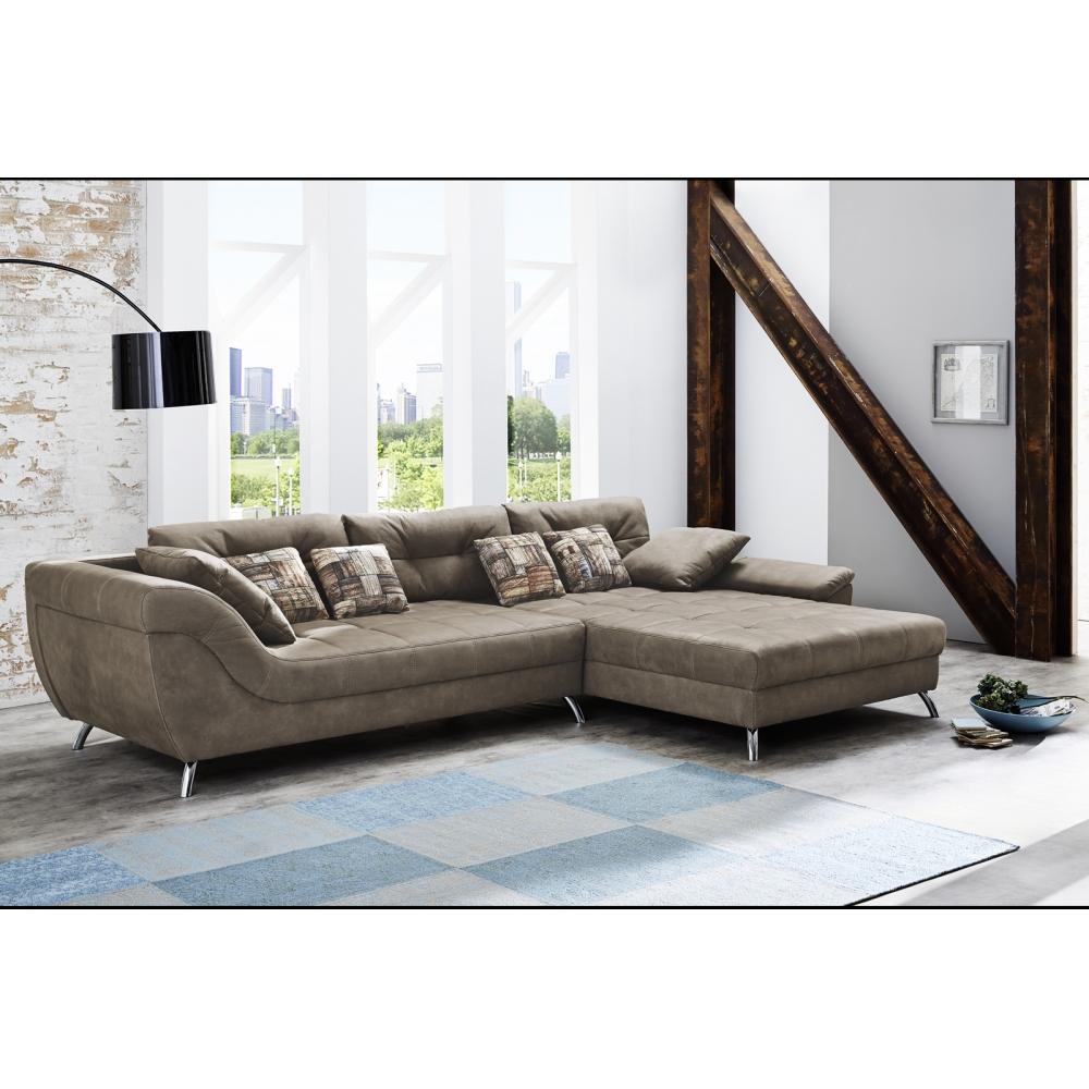 469 08 552 08 san francisco microfaser braun couchgarnitur couch sofa wohnzimmercouch ca 358. Black Bedroom Furniture Sets. Home Design Ideas