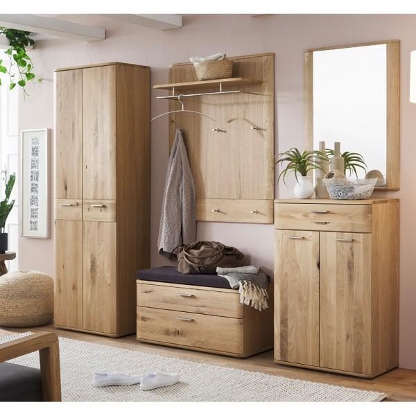 nilo garderoben set 6 tlg in balkeneiche bianco ge lt teilmassiv komplettgarderobe. Black Bedroom Furniture Sets. Home Design Ideas