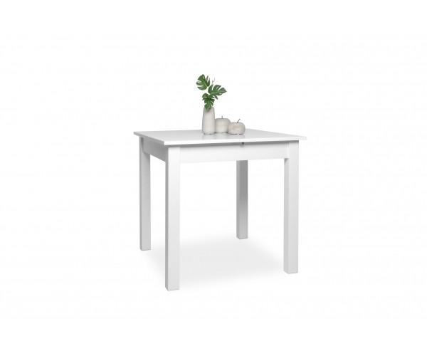 002044 Coburg Weiß 80 X 80 Cm Tisch Esszimmertisch Küchentisch Ausziehbar  Au Ca. 120 Cm