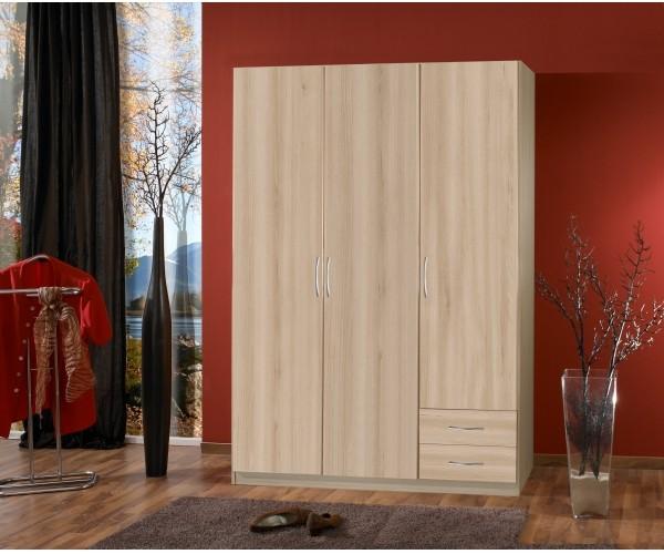 019 206 sprint edelbuche dekor 3t rig 198 cm hoch ohne spiegel kleiderschrank schrank. Black Bedroom Furniture Sets. Home Design Ideas