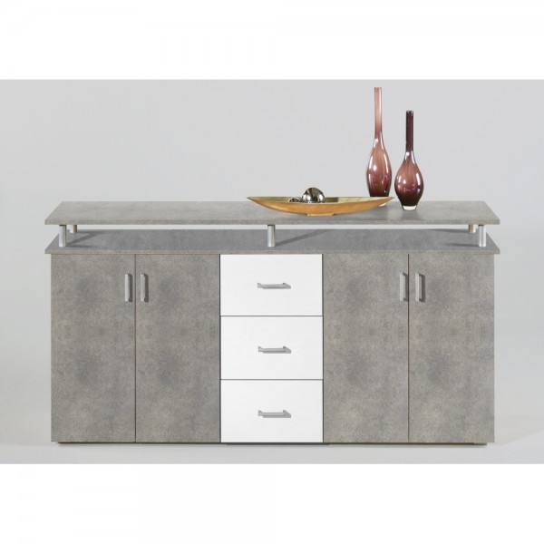 44 334 D5 Lift Korpus Beton Laden Weiss Kommode Sideboard